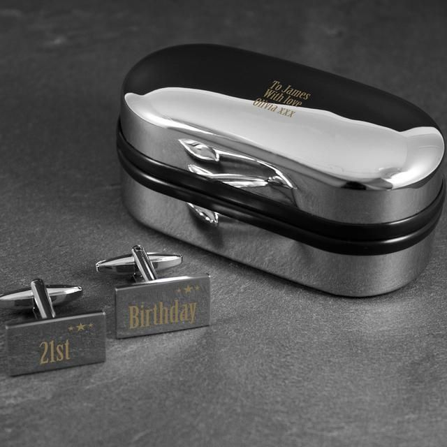21st Birthday Cufflinks and Box Set Available on Shopify! Shop here 👉  http://www.blueponystyle.com/products/21st-birthday-cufflinks-and-box-set?utm_campaign=crowdfire&utm_content=crowdfire&utm_medium=social&utm_source=pinterest