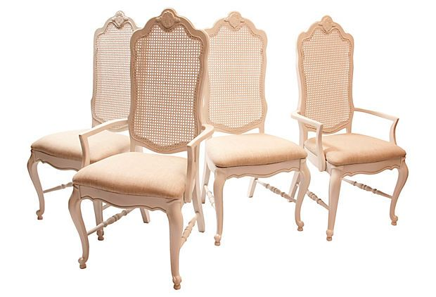 Wicker Backed Kitchen Chairs