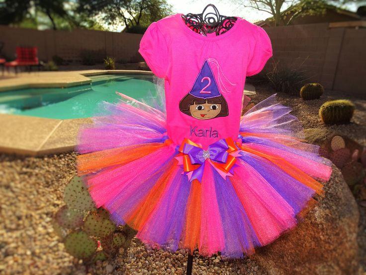 Dora the Explorer tutu Outfit, Birthday outfit by TutuCuteandBowTastic on Etsy