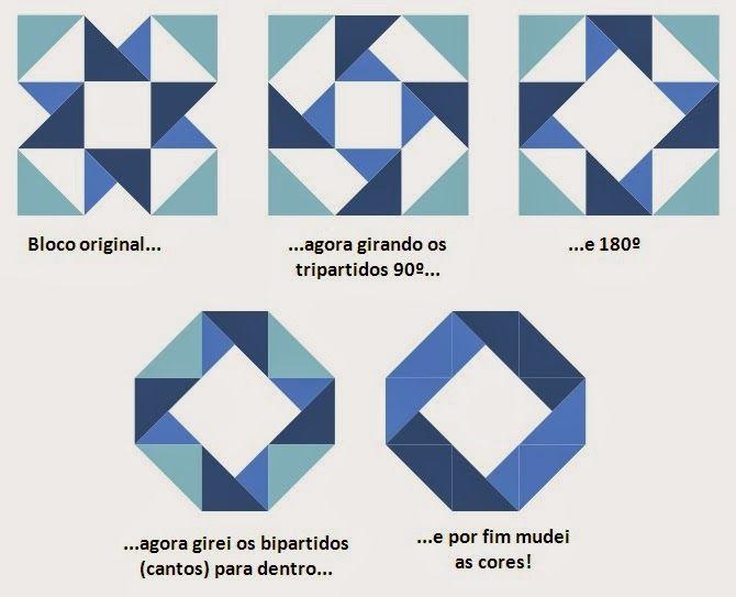 Bau de ideias patchwork patterns