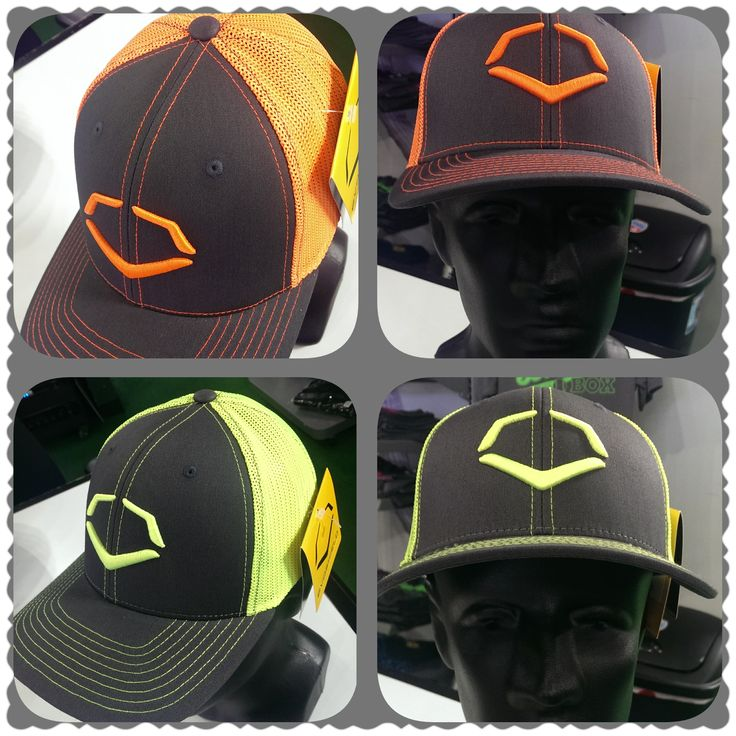 2015 EvoShield trucker flex fit hats.  In neon orange and neon yellow.  Makes a great stocking stuffer or gift for any age!