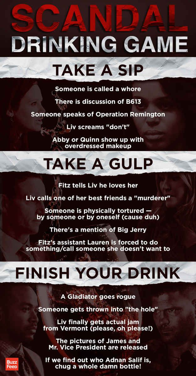 "The ""Scandal"" Season 3 Mid-Season Finale Drinking Game"