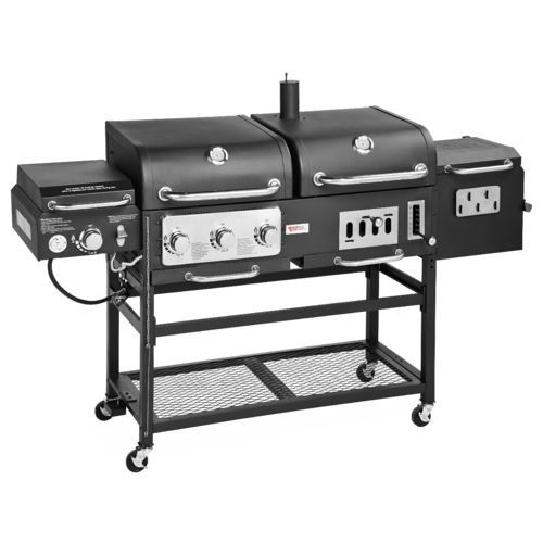 Outdoor Gourmet Pro Triton Dlx 4 Burner Propane And Charcoal Grill Smoker Combo Ideas For The House Grilling Barbecue