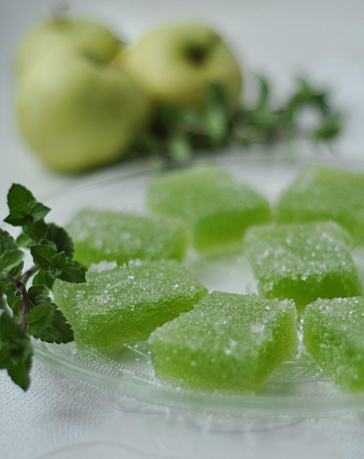 Galaretki jabłkowe w cukrze