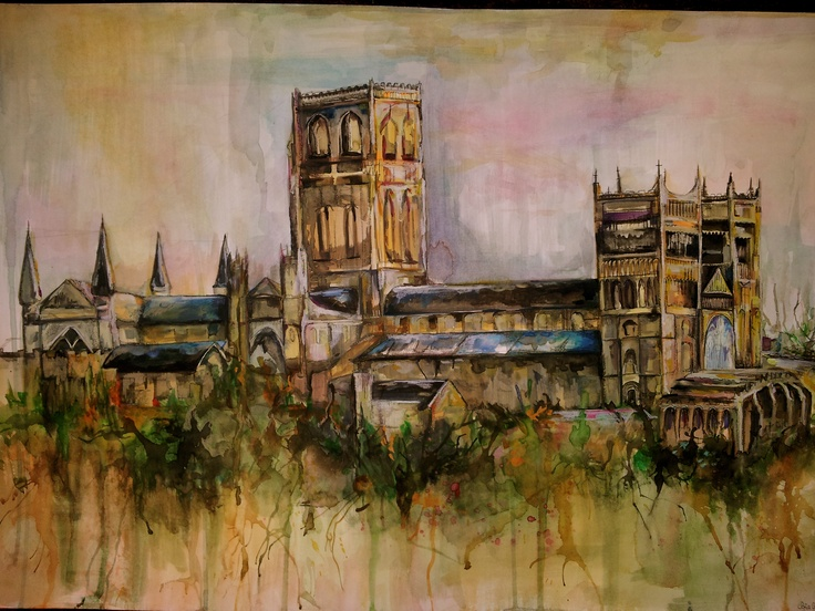 Cathedral for Sir Thomas Allen  Watercolour A2