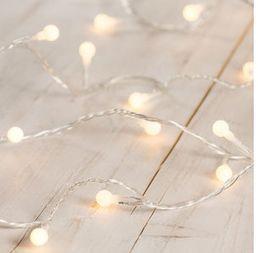 Pallovalosarja Marja 40 led, lämmin valkoinen; Jääkristalli