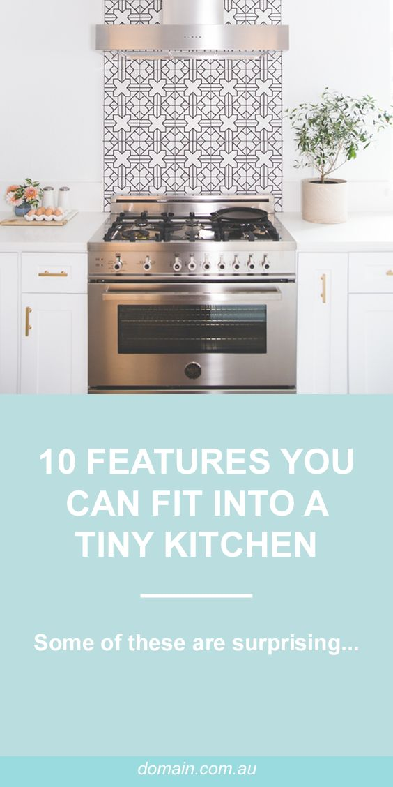 10 surprising features you can squeeze into a tiny kitchen