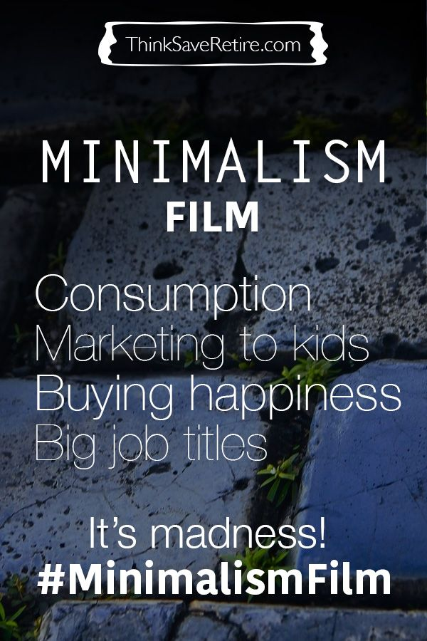 The Minimalism Film's unique look at American consumption, happiness and taking control over your life. Review of the documentary by The Minimalists