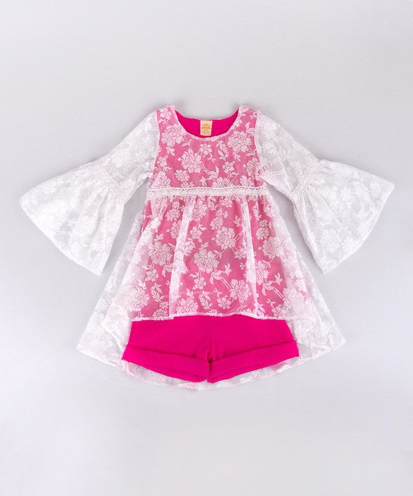Look at this Fuchsia & White Boho Blouse & Shorts - Toddler & Girls on #zulily today!