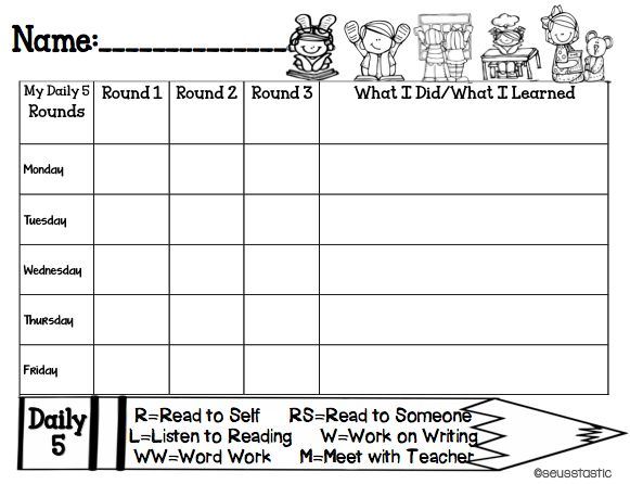 FREE Daily 5 student  teacher check in sheets  so much more!!! 60 pages in all!