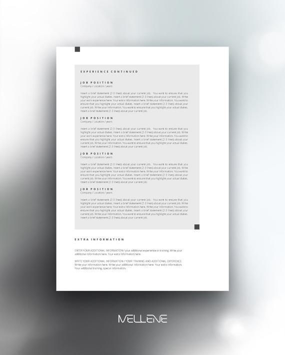 Resume Template 5 Page Cv Template Cover Letter Instant Download For Ms Word Anna Cv Template Resume Template Lettering