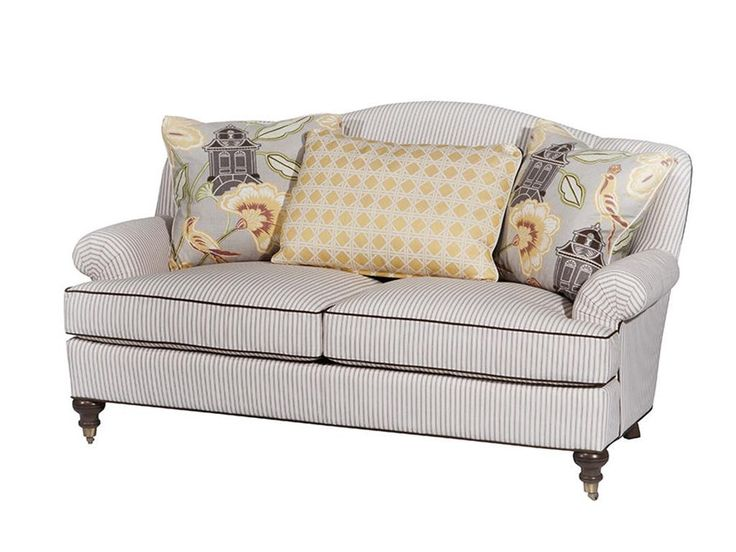 Wesley Hall Living Room Gable Settee At North Carolina Furniture Mart At  North Carolina Furniture Mart In Bixby, OK