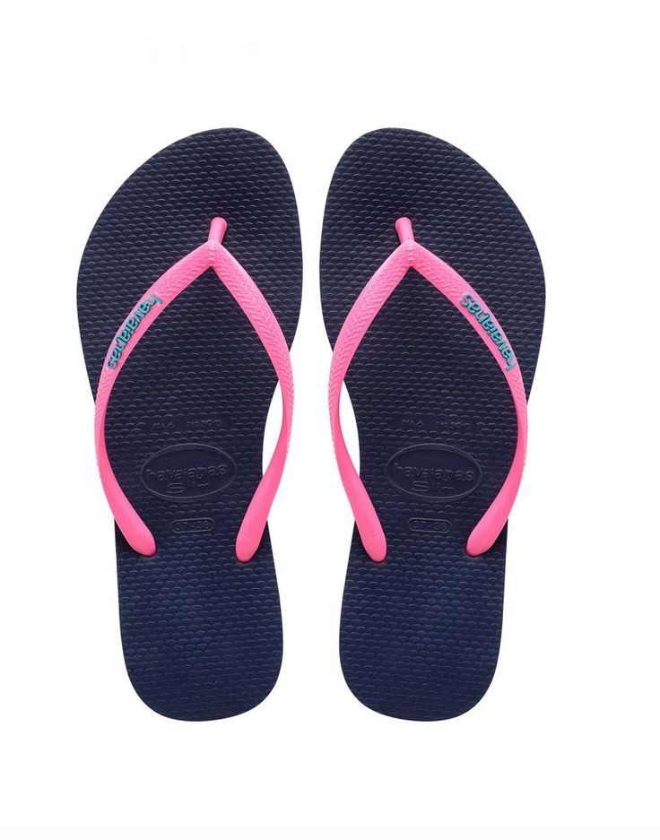 Havaianas Flip Flop - Navy/Pink from Chocolate Shoe Boutique