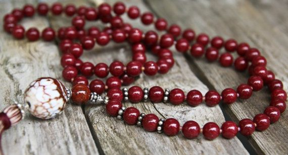Perline in agata e collana lunga con giada di NORDeastHOME su Etsy