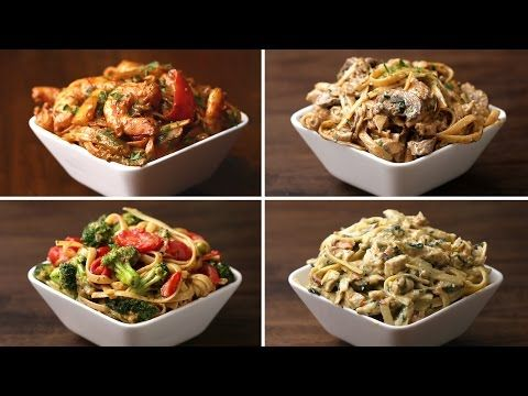 These Four Recipes For Fettuccine Will Have You Drooling All Over || Chicken Bacon Florentine Fettuccine
