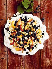 Blackberry & apple meringue with walnuts & elder