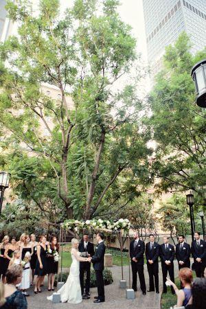 Stunning city wedding outdoor ceremony