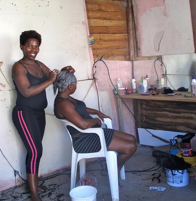 The beauty salon in Imizamo Yethu township, Cape Town.