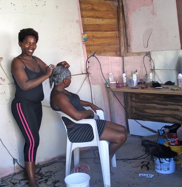 The beauty salon in Imizamo Yethu township, Cape Town.