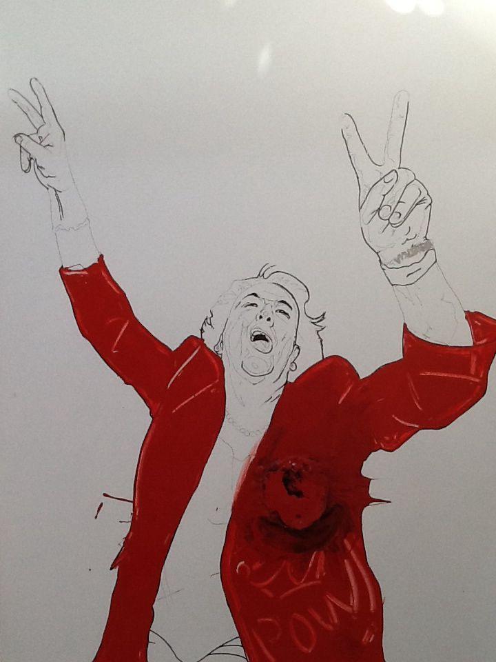 Rita Barbera, esmalté satinado en lámina, 100x70