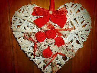 Ghirlanda a cuore. Locandarosa.blogspot.it