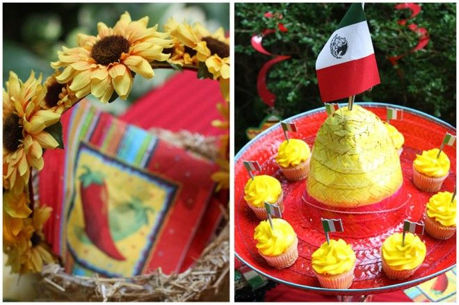 mexican party... sombrero as a cupcake platter! Someone throw me a Mexican party. I won't be offended, I promise!