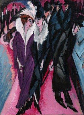 Ernst Ludwig Kirchner, scène de rue, 1913-1915 (expressionnisme)