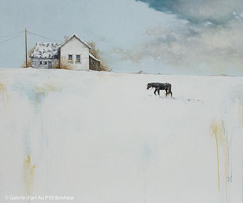Tammy Shane, 'Turning In', 30'' x 36'' | Galerie d'art - Au P'tit Bonheur - Art Gallery