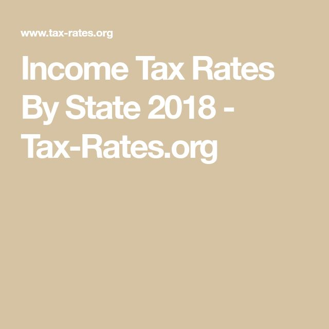 Income Tax Rates By State 2018 - Tax-Rates.org