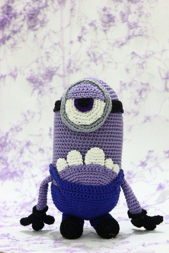 Purple Minion crochet amigurumi bad minion by AmigurumiSA