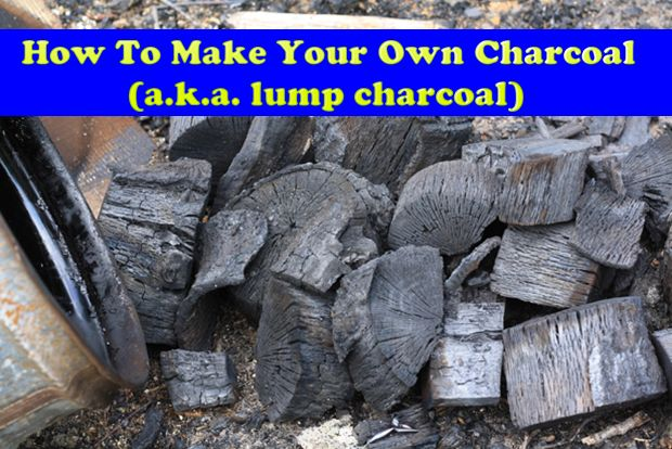 How To Make Your Own Charcoal (a.k.a. lump charcoal) Read HERE ---  http://www.livinggreenandfrugally.com/make-charcoal-k-lump-charcoal/