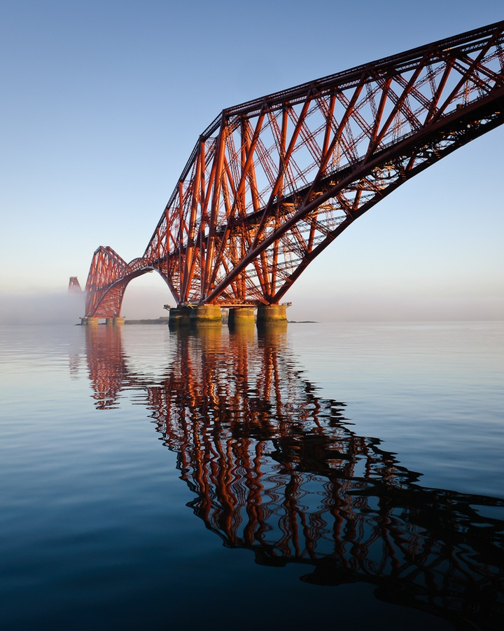Crossed the new Queensferry Crossing the day, one of three bridges in a row, this is the Forth Rail Bridge, very bonnie