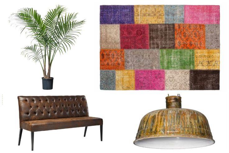#vintage #patchwork kleden van #Sukhi. Geeft je #interieur een vintage look. #collage #board | Sukhi.nl