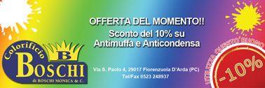 Colorificio Boschi offre uno sconto del 10% su Antimuffa Anticondensa! www.ibuonidelborgo.it  #sconti #coupon #omaggio