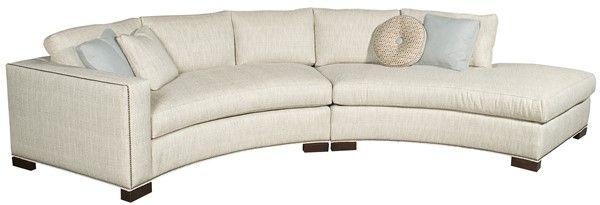 Vanguard Furniture: W180-LAJ Bennett Left Arm Curved Sofa