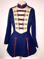 "Vintage Marching Band / Majorette Dress Uniform Costume For 5'3"" Sz 5 Oswald Inc"