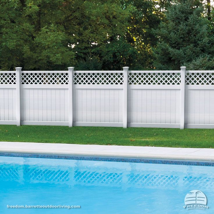 lattice top vinyl privacy fence is low maintenance and pool code approved freedom fencing built