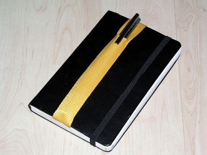 tutorial quick diy pen pencil holder for a notebook