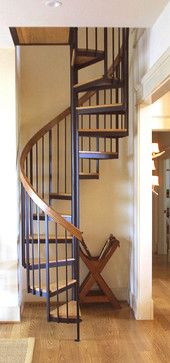 super narrow spiral staircase