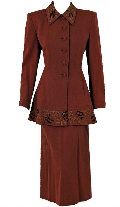 Suit 1940s Timeless Vixen Vintage - OMG that dress!
