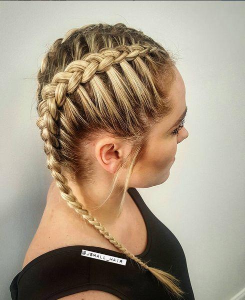 Khloe Kardashian inspired braids created by Jess