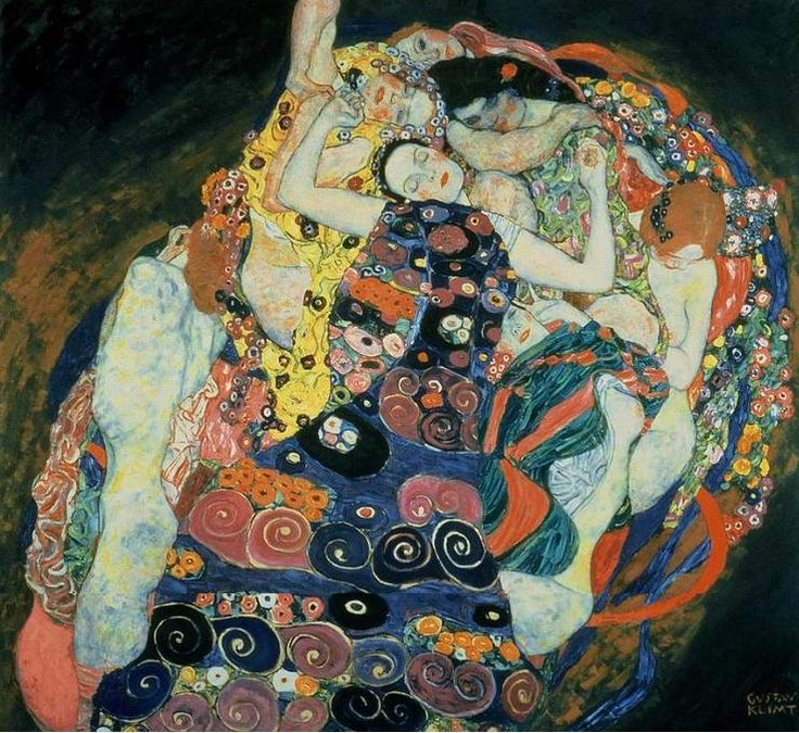 < The virgins >, 구스타브 클림트. < The brides >의 모태인 작품이다. 클림트의 그림은 聖 혹은 性 사이의 매력이 발산된다는 이야기를 들었다. 이 처녀들도 백마탄 낭군을 꿈꾸고 신부가 되겠지. 갈망, 환희, 만족감 같은 것이 표현되는 것 같다.