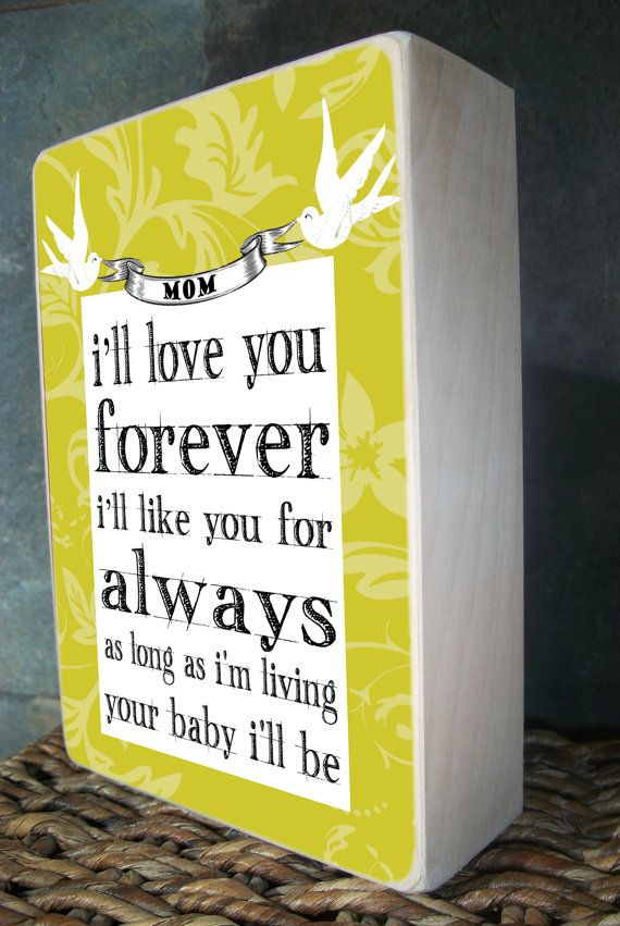 """5"""" x 7"""" birch block - Mother's Day Gift, Perfect Birthday Gift for Mom, can be personalized"""