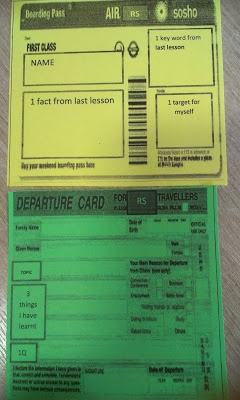 A Plane Journey of Learning, my twist on an exit card