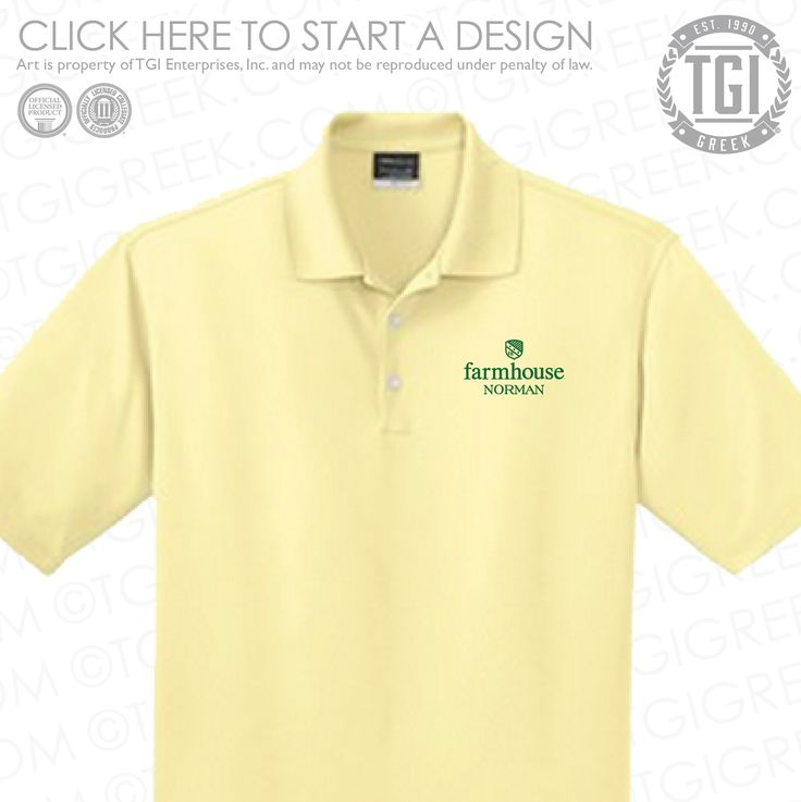 FarmHouse | Fraternity PR | Fraternity Polo | TGI Greek | Greek Apparel | Custom Apparel | Fraternity Tee Shirts | Fraternity T-shirts | Custom T-Shirts