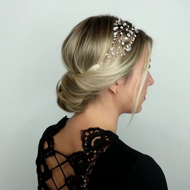 ROMANTIC UPDO HAIRSTYLE TUTORIAL#hairstyle #romantic #tutorial #updo