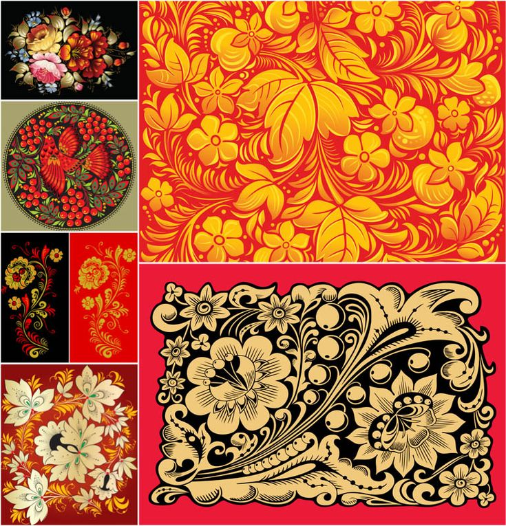 Russian ornaments vector