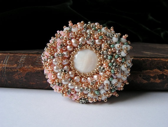 bead embroidery brooches