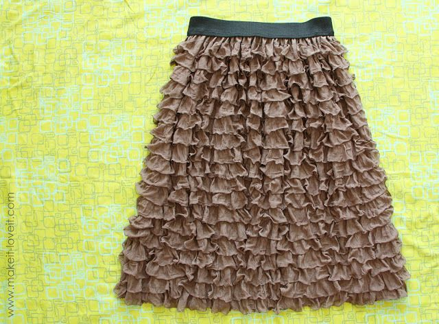Ruffly Skirt……from pre-ruffled fabric   Make It and Love It