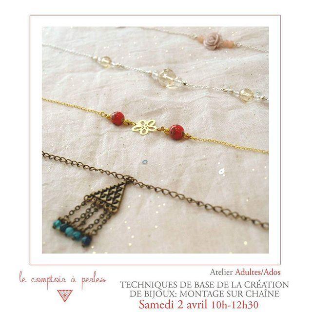 """ATELIER - Plus que 2 places pour l'atelier de samedi! L'occasion d'apprendre une technique de base de la création de bijoux qui vous permettra de personnaliser tous vos bijoux... A saisir! ;) Pour réserver votre place: lien dans la bio ou sur l'onglet """"Réservation des ateliers"""" sur notre page Facebook. #lecomptoiraperles #atelier #workshop #perles #chaîne #chain #beads #beading #beadaddict #handmade #faitmain #handmadejewelry #instajewels #creation #bijoux #creativity #bracelet #collier…"""
